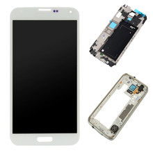 For Samsung Galaxy S5 G900F/A/P/T/V Touch Screen Digitizer LCD Display Assembly + Frame Black White W0A05 T18 0.4