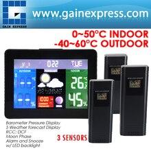 Барометрического беспроводных dcf рсс датчиков метеостанция rh монитор температуры давления термометр