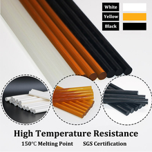 150 Degrees High Temperature Resistant Hot Melt Glue Sticks 11x300mm for Electric Gun Black White Pale-yellow, 1kg/lot
