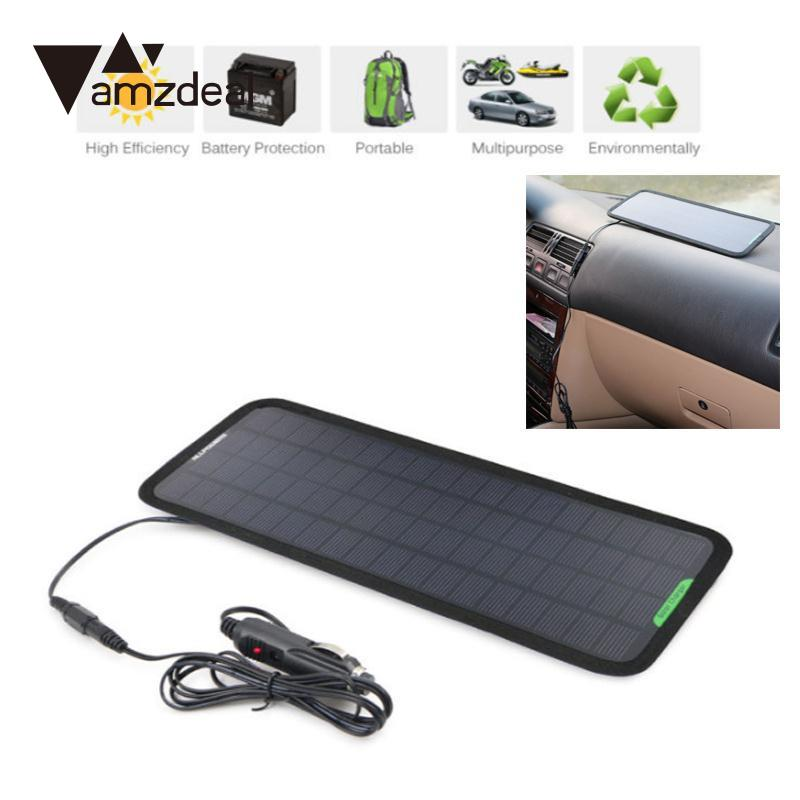 amzdeal Multi Portable Solar Panel Power Battery Charger 12V 5W RV Car Motorcycle Outdoor Travelling Powerbank DIY Module Board