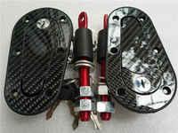Goupille de capot de Fiber de carbone de voiture de course Plus serrure de Kit de loquet de bâti affleurant avec des clés