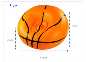 Image 3 - Inflatable Basketball Bean Bag Chair Soccer Ball Air Sofa Indoor Living Room PVC Lounger for Adult Kids Outdoor Lounge Armchair