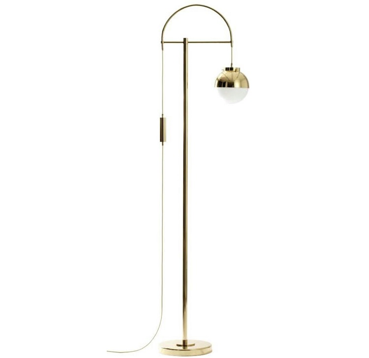 Us 150 0 Spain Design Lever Floor Lamp Bronzing Metal Body Frosted Glass Shade In Floor Lamps From Lights Lighting On Aliexpress