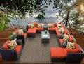 Sigma Grupo Sets17 Pieza Asientos De Mimbre Sofá Muebles de Lujo Al Aire Libre