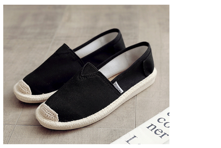 Breathable Summer Women Flats Fashion Basic Fisherman Hollow Canvas shoes Lace White Classic Slip On Casual Shoes Women VT230 (18)