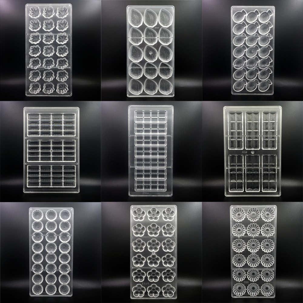 144 stile 3D Schokolade Formen Polycarbonat Weihnachten Tablett Backen Gebäck Bäckerei Werkzeuge für Schokolade Bar Form Backformen Mould