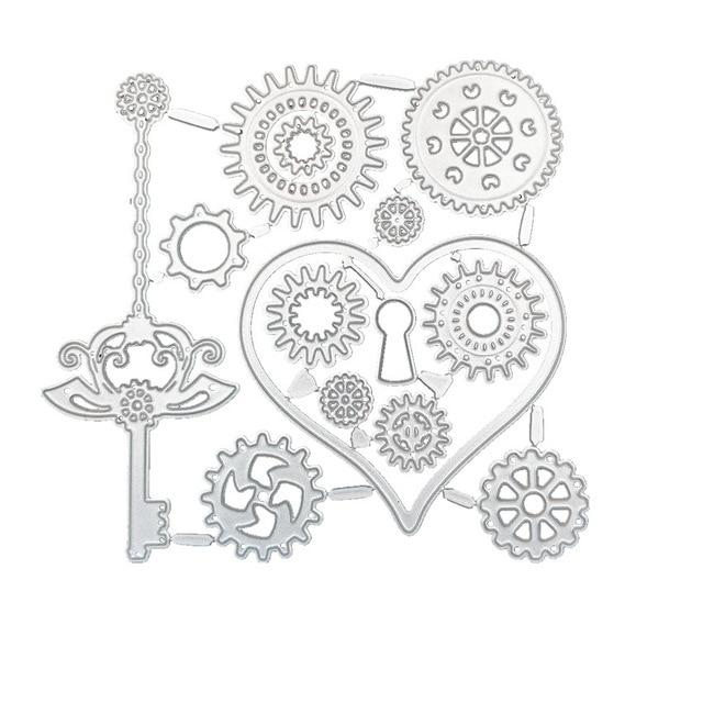 1 Uds Gear Magic, diseño cuadrado de Metal, troqueles de corte de álbum de colección de recortes para artesanía, troquelado, suministros de grabado, decoración de marcos de fotos