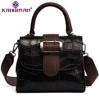 5 Color Luxury Crocodile Pattern Women Shoulder Bag Small Tote Flap Bags Handbag Retro Female Leather