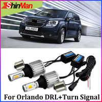 ShinMan 30W 1156 bau15s 7507 py21w led DRL Daytime Running Light daylight& Turn Signal Turn light For Chevrolet Orlando 12-15