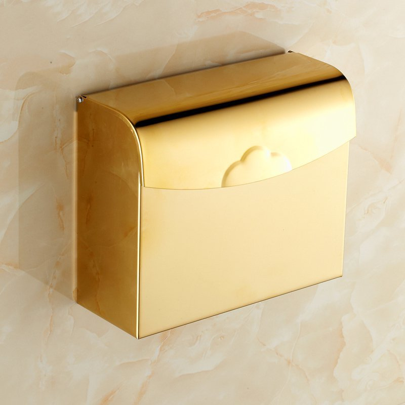 Oscar Tommy Continental gilt square tissue box paper holder toilet paper carton box of bathroom hardware pendant hand  the paper carton wall plastic roll plastic creative paper towel box paper market box carton
