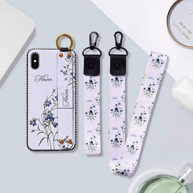 Flower Phone Case With Lanyard and hand strap