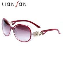 LianSan Oversized Polarized Female Butterfly Sunglasses Women Luxury Brand Designer Plastic Frame Driver Fashion Black GD103P