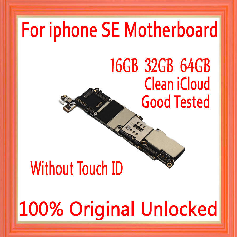 16gb 32gb 64gb 128gb for iphone 5SE Motherboard without Touch ID 100% Original unlocked for iphone 5SE Mainboard with Full Chips|Mobile Phone Antenna| |  - title=