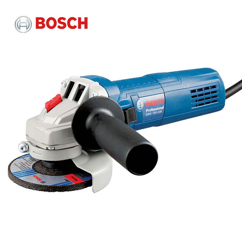 BOSCH GWS750-100 Angle Grinder 220V Cutting Polishing Machine Hand Wheel Electric Concrete Metal Polisher 100mm grinding disc 100 resin grinding wheel piece metal cutting type angle grinder using