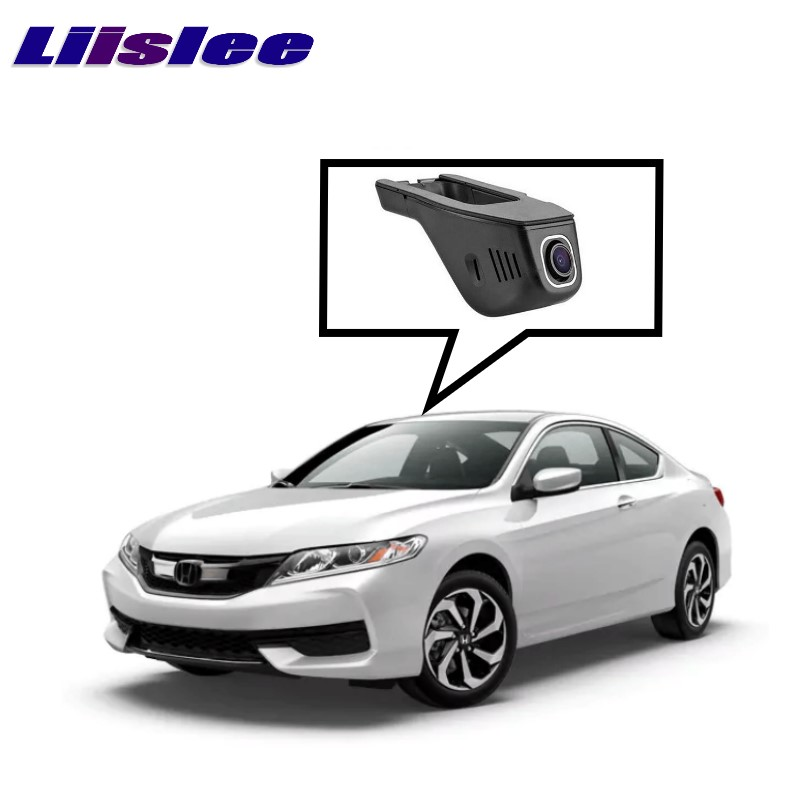 LiisLee Car Black Box WiFi DVR Dash Camera Driving Video Recorder For HONDA For Accord 9 2013~2017 for vw eos car driving video recorder dvr mini control app wifi camera black box registrator dash cam original style