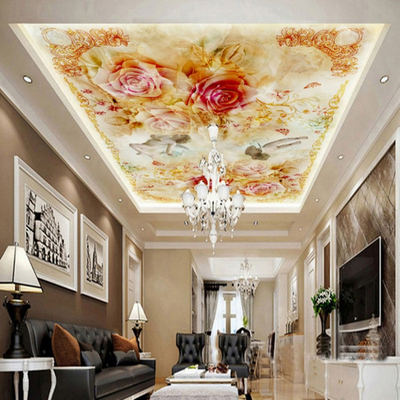 Custom photo wallpaper Custom angel European style rooftop mural living room restaurant hotel ceiling wallpaper home decoration дезодорант стик 75 мл hugo boss дезодорант стик 75 мл
