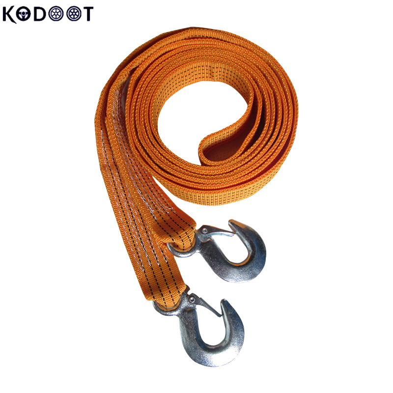 Nylon Recovery Tow Strap Rope Capacity Emergency Heavy Duty Towing Ropes(5m x 47mmx 2mm) 3 Tons Car Towing Rope