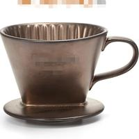 Hot Selling Newest Ceramic Coffee Filter Cup with Three Holes and Fan shaped Drip Filter Cup Permanent Filters Coffee Reusable