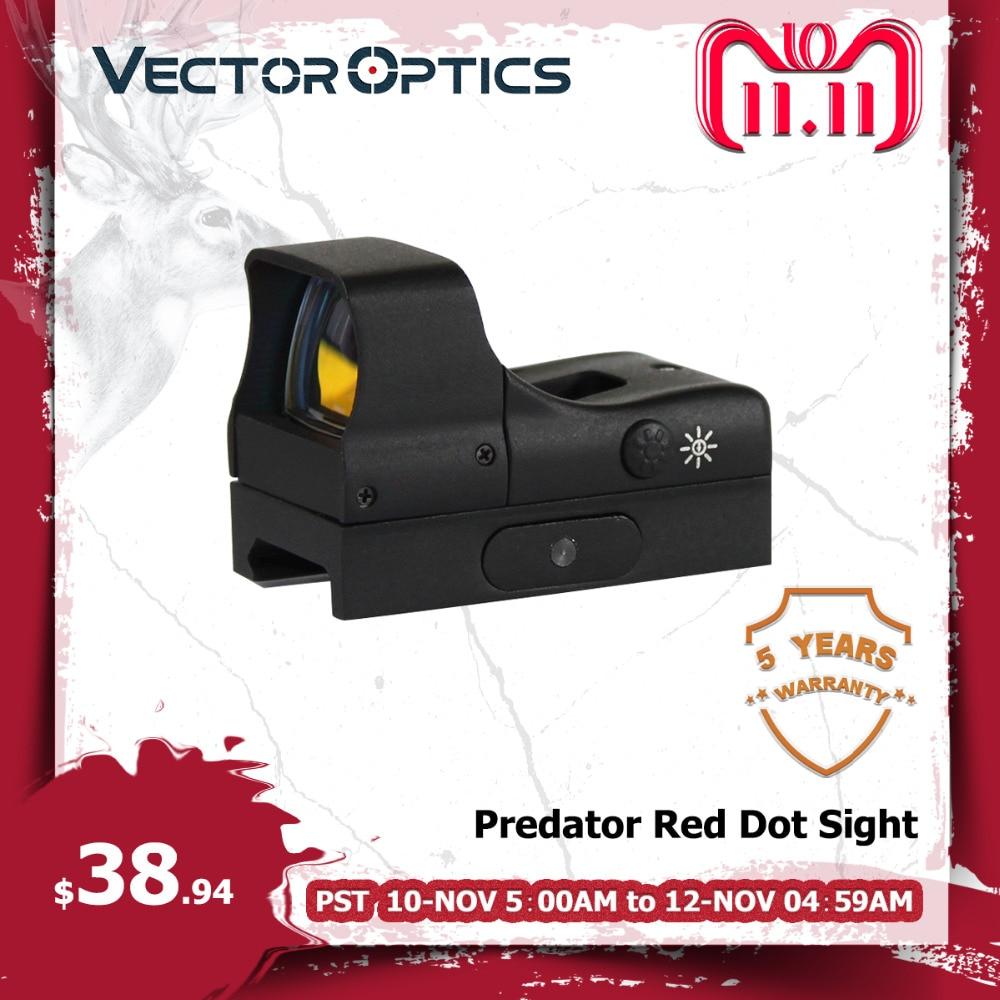Vector Optics Predator 1x28x20 Tactical Reflex 12GA Open Shotgun Red Dot Hunting Sight 2.4 Inch Length 4 MOA Dot ShockProof цена