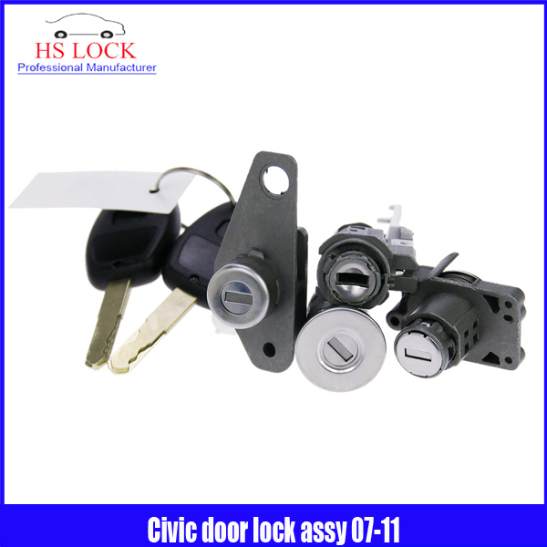 professional Locksmith Supplies for Cvil door lock assy (2007-2011year )With Car Key Locksmith Tools free shipping 2016new bmw auto car practice lock cylinder with car key locksmith tools training car lock