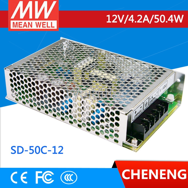 цена на MEAN WELL original SD-50C-12 12V 4.2A meanwell SD-50 12V 50.4W Single Output DC-DC Converter