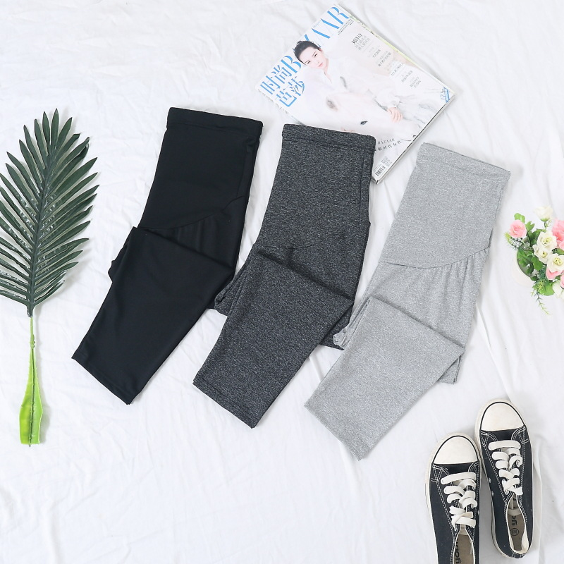 2019 Spring Maternity Over Belly Capri Crop Support Leggings Skinny Leggings Pregnancy Pants Fashion pregnancy pants ropa para