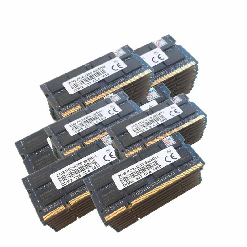 50x2GB PC2-4200 DDR2-533 533Mhz DDR2 Laptop Memory  SODIMM Notebook RAM Non-Ecc 200pins Unbuffered Low density 4gb pc2 5300s ddr2 667 667mhz ddr2 laptop memory cl5 0 sodimm notebook ram non ecc 200pin 2rx16 low density