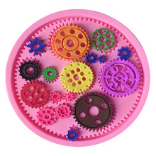 Cube Gear Cake Lace Silicone Mold Cakes Candy Molds Wedding Stand Chocolate Baking Tools For