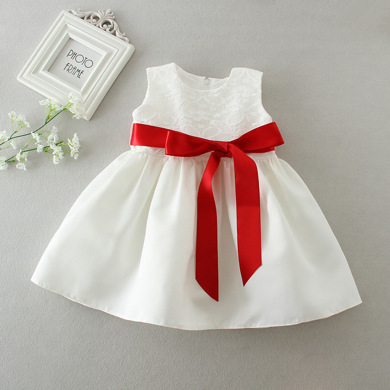 Newborn Baby Girl Birthday Outfit Infant Wedding Gowns Bow Designs Baby Girls Princess Christmas Dress Baby Tutu Dress DQ271
