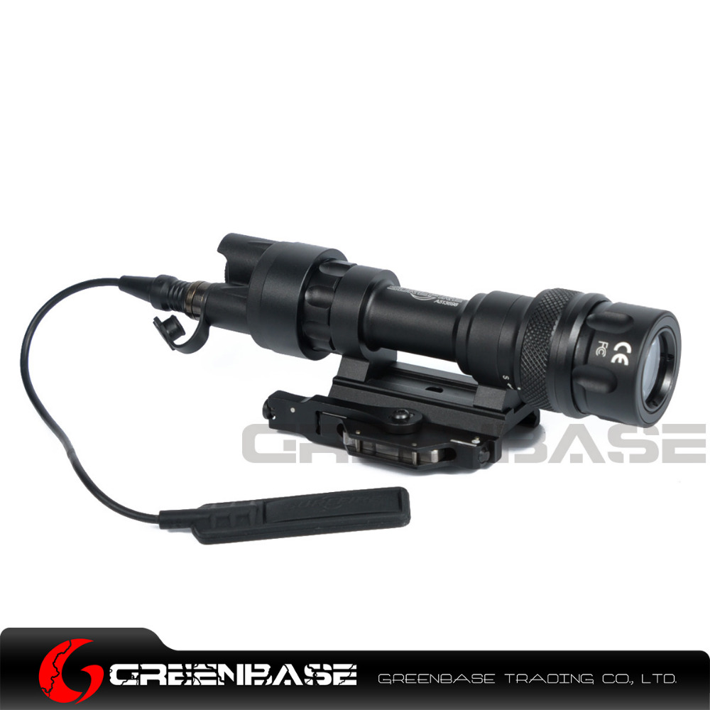 Greenbase M952V IR Scout Light LED WeaponLight Constant White / IR /Momentary White Mode Output Waterproof Flashlight QD Mount greenbase tactical weapon light sf x300 hunting flashlight airsoft pistol scout light constant momentary output picatinny rail