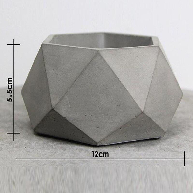 Nicole Silikon Beton Form für Blumentopf Geometrische Polyeder Zement Pflanzer Form Garten Dekoration Werkzeuge-in Lehm-Formen aus Heim und Garten bei  Gruppe 3