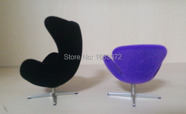 1/16 Scale Iconic Egg Chair Miniature, Kids Furniture Toys