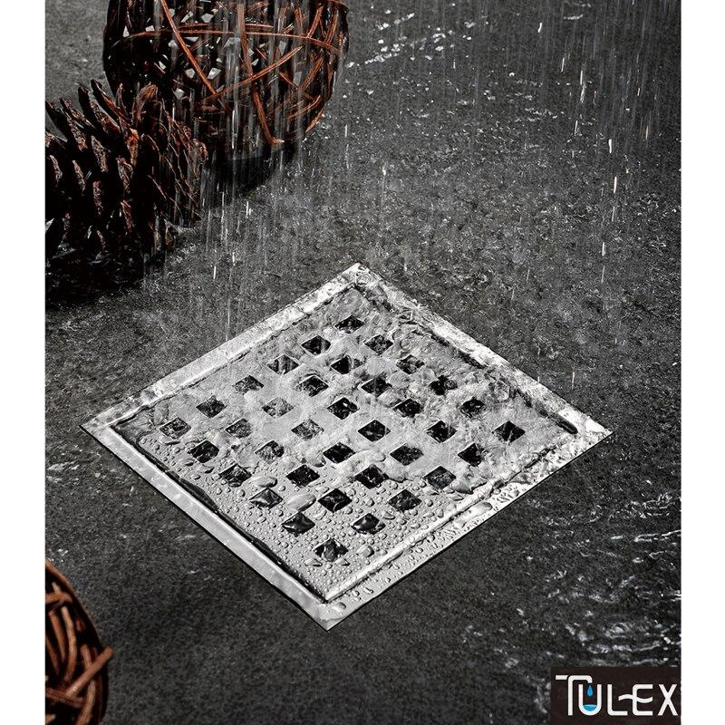 TULEX carré en acier inoxydable Anti-odeur Drain de sol salle de bain Invisible douche Drain de sol égouttoir à déchets