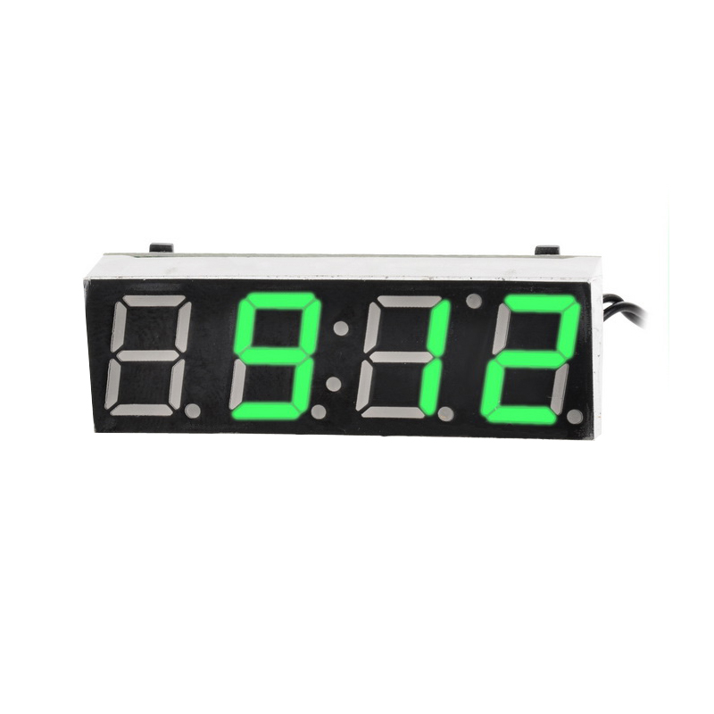 Car Electric Clock Digital Timer LED Temperature Clock Thermometer Voltmeter LED Display Digital Clock Green Blue Red Light 3 in 1 multifunctional car digital voltmeter usb car charger led battery dc voltmeter thermometer temperature meter sensor