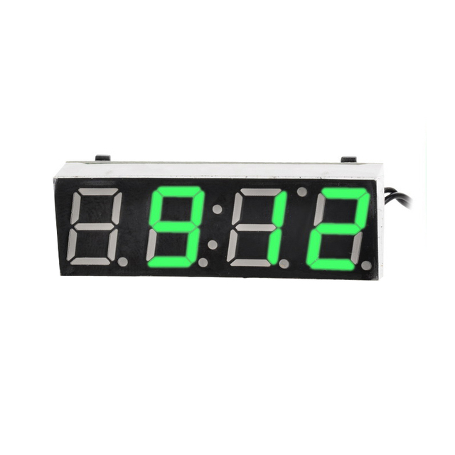 db8dc83df5c Temperatura Termômetro Relógio carro Relógio Elétrico Timer Digital LEVOU  Voltímetro Display LED Relógio Digital de Luz
