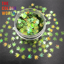 Weed Leaves Pot Leaves 6MM Nail Glitter Nails Art Decoration Body Glitter Tattoo Tumblers Crafts Festival Accessories Party DIY