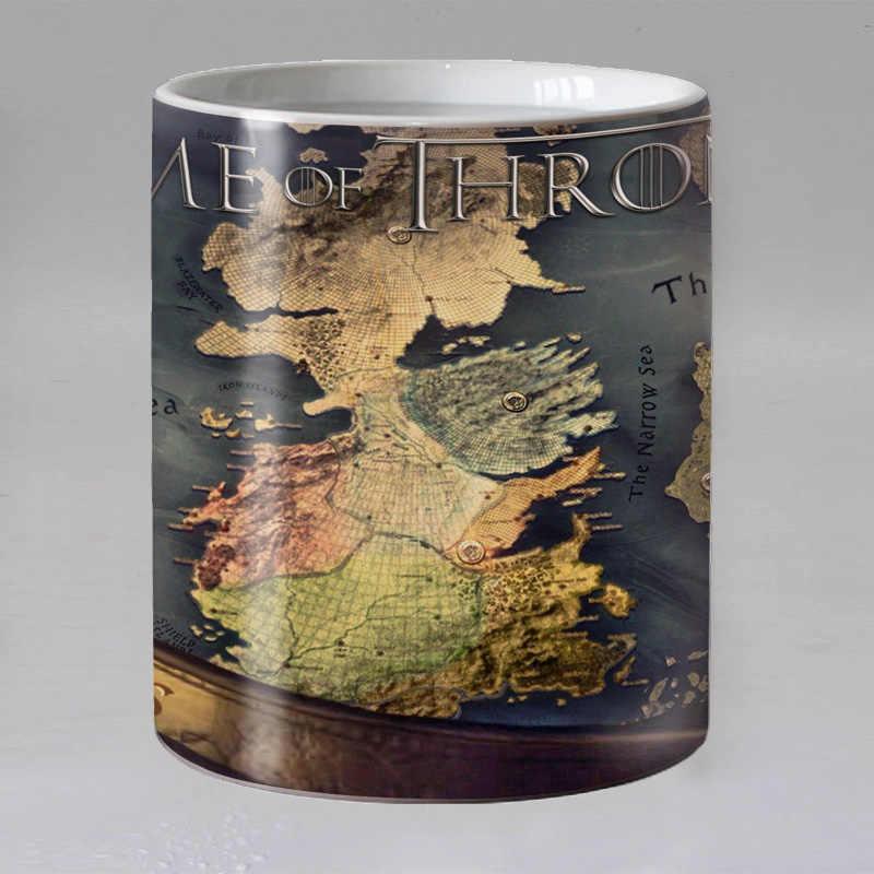 Game of thrones kubek do kawy kubki do przenoszenia ciepła przekształcające kubek ciepło wrażliwe na ciepło zmiana koloru magiczny kubek kubki na herbatę