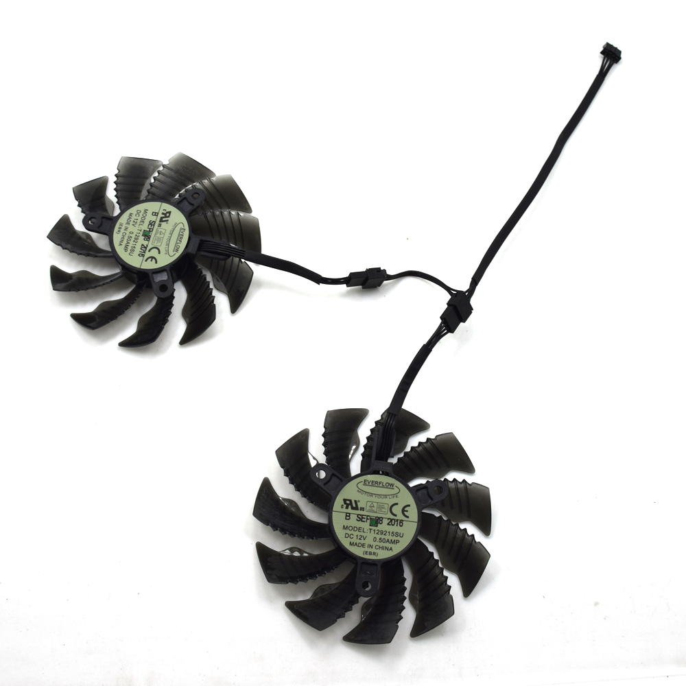 88mm T129215SU 4Pin 42mm Cooler Fan For NVIDIA GeForce GTX 950 960 RX480 R9 390X R9 380X Graphics Card Cooling Fan 4pin mgt8012yr w20 graphics card fan vga cooler for xfx gts250 gs 250x ydf5 gts260 video card cooling