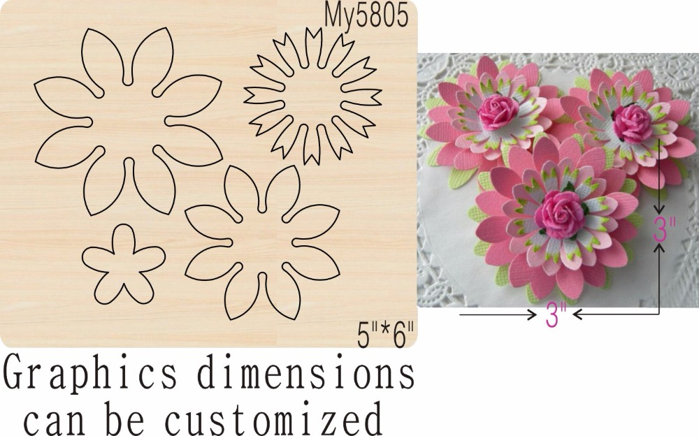 FLOWER new wooden mould cutting dies for scrapbooking Thickness 15 8mm