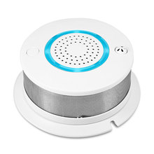 WiFi 2 in 1 Smoke Temperature Alarm System Detector APP control Battery Backup for Wireless Home Security Alarm System PA-438W