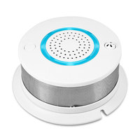 WiFi 2 In 1 Smoke Temperature Alarm System Detector APP Control Battery Backup For Wireless Home