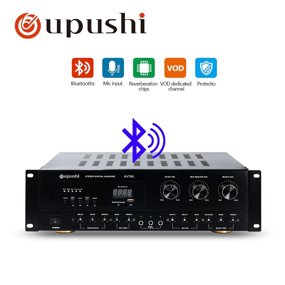 Oupushi プロのカラオケアンプサポートマルチチャンネルマイク入力のための適切なホームシアター L -