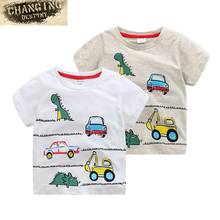 three To eight Years Old Children Boys Girls Kids T-Shirts Comfortable Cartoon Printing Cotton T-Shirts
