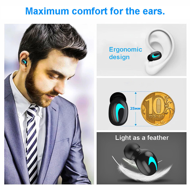 M&J TWS 5.0 Bluetooth Earphone With 3D Stereo IPX5 Waterproof And Power Bank 3