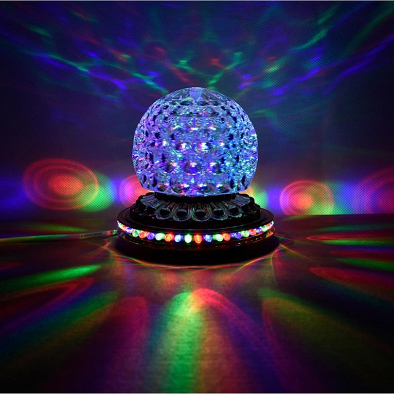 Party Lights DJ Disco Ball Lights RGB LED Stage Lights Rotating Crystal Magic Ball Strobe Light For Xmas Home Wedding KTV Dance