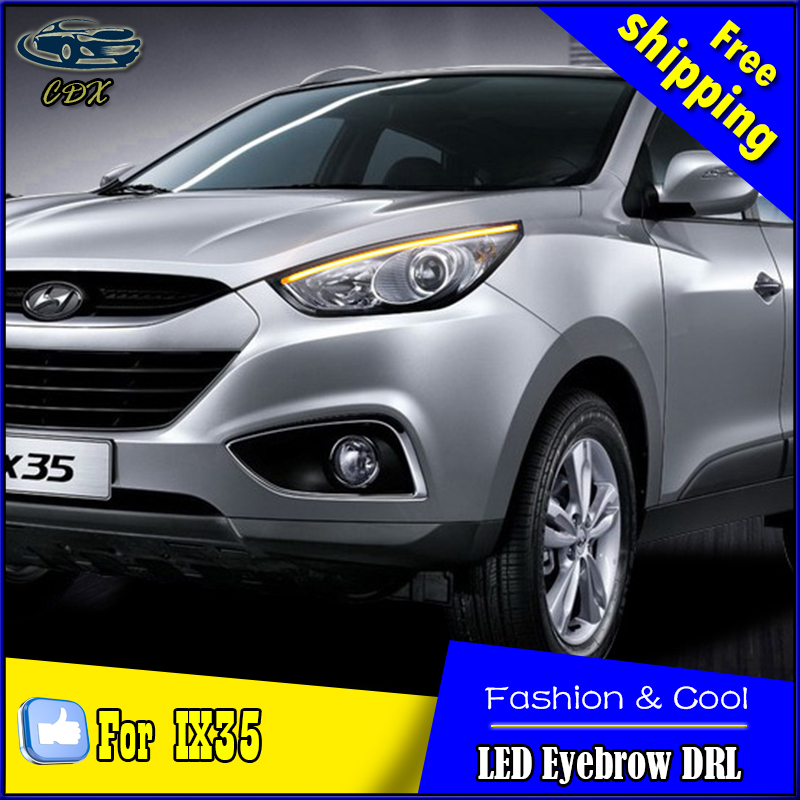 Car Styling LED DRL for Hyundai IX35 2010-2015 New Tucson Eye Brow Light LED External Lamp Signal Parking Accessories