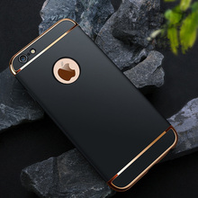 Luxury 3 in 1 Removable Slim Hard Phone Case for iphone 7 6 6S PLUS/ 5 5S SE Elegance 360 Protection Shockproof Matte Back Cover