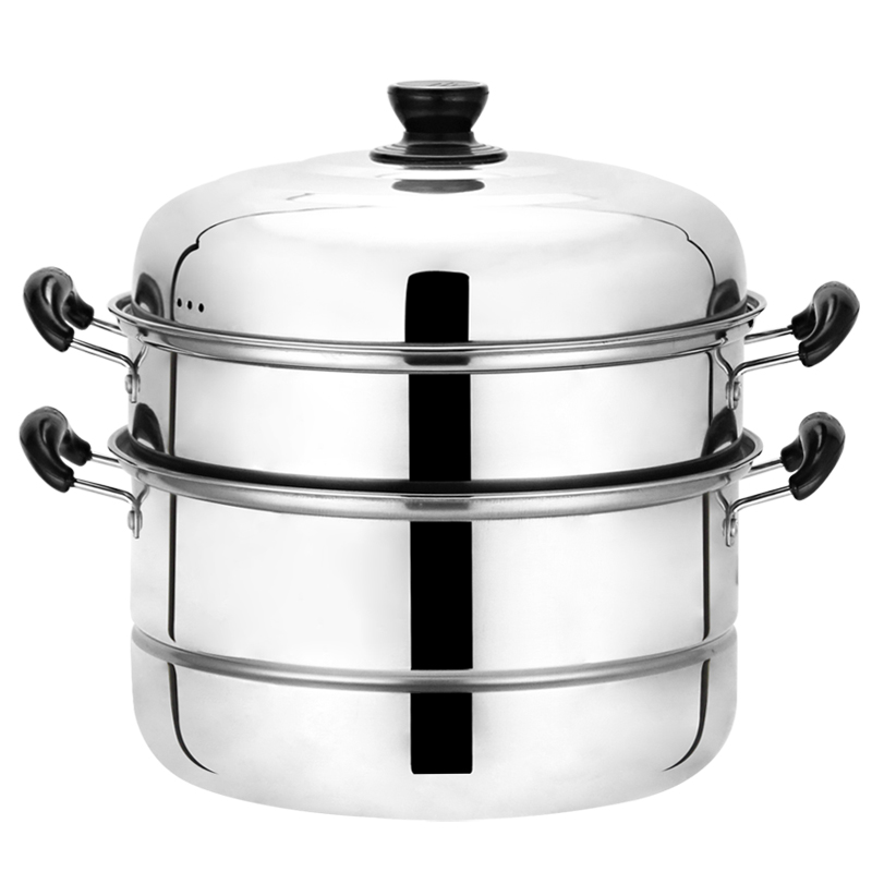 10 Litre General Use Induction Cooker Stainless Steel Steamer With 2 Layers Cooking Steamer Steamed  Soup Pot