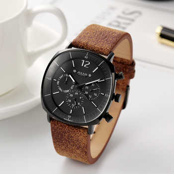 Real Functions Men's Watch ISA or Epson Mov't Hours Clock Business Sport Bracelet Leather Boy Birthday Christmas Gift Julius Box - DISCOUNT ITEM  25% OFF All Category