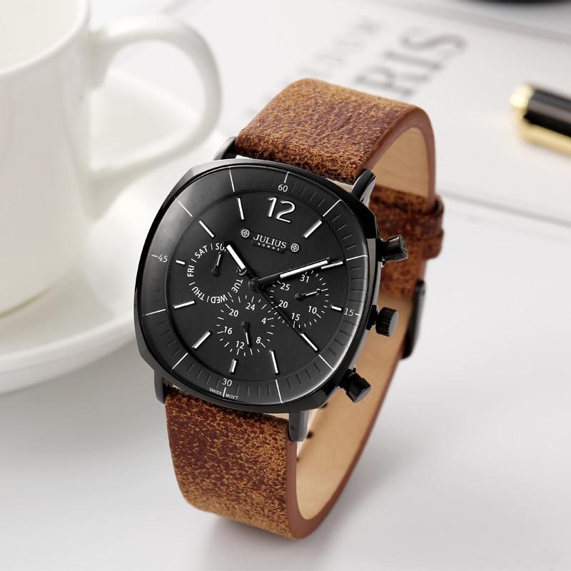 Real Functions Men's Watch ISA Quartz Hours Clock Business Sport Dress Bracelet